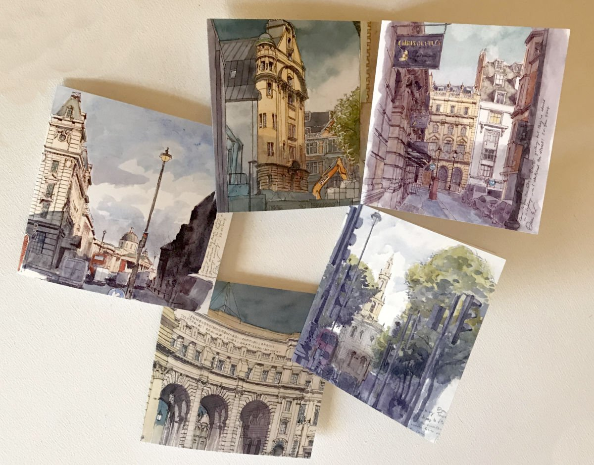 London Pack of 5 Cards